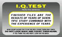 IQ Card Find the Fs