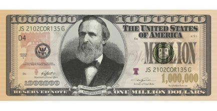 US Million Dollar Bill